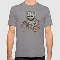 Robocat Mens Fitted Tee Tri-Grey SMALL