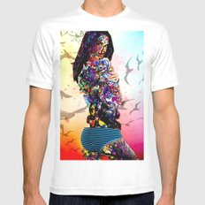 Beauty White SMALL Mens Fitted Tee