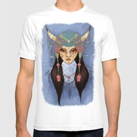 Mongolian Princess Mens Fitted Tee White SMALL
