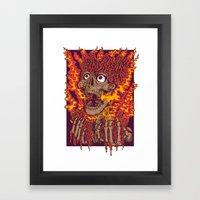 Blazing Skulls Framed Art Print