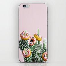 Donut Cactus In Bloom iPhone & iPod Skin