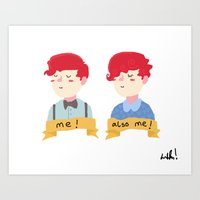 two self portraits Art Print