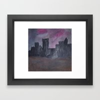 Skyline Sunset Framed Art Print
