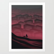 Sleeping Town Art Print