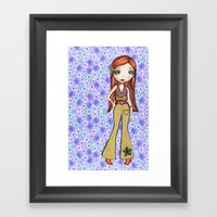 Hippie Heart Framed Art Print