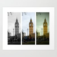 Big Ben - Three Ways Art Print