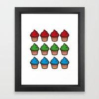 RGB Cupcakes Framed Art Print