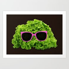 Mr Salad Art Print