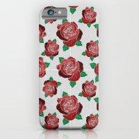 rose & dots pattern iPhone 6 Slim Case