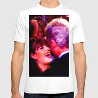 Big Willy Style Mens Fitted Tee White SMALL