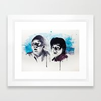 Doc & Marty Framed Art Print