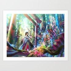 Rainbow Shrine Art Print
