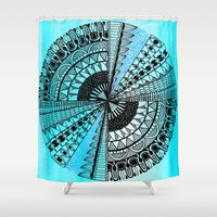 eye in the sky Shower Curtain