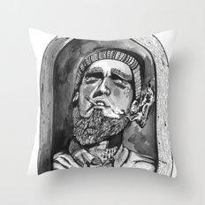 Where the forrest meets the sea Throw Pillow