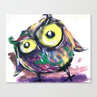Hi From Owl Canvas Print