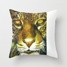 Wildlife Animal Painting - Jaguar Throw Pillow