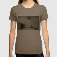 Lost mirror Womens Fitted Tee Tri-Coffee SMALL