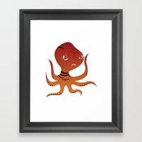 Tiger Squid Framed Art Print
