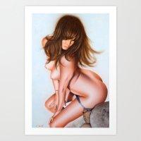 Nude Girl 1 Color Art Print
