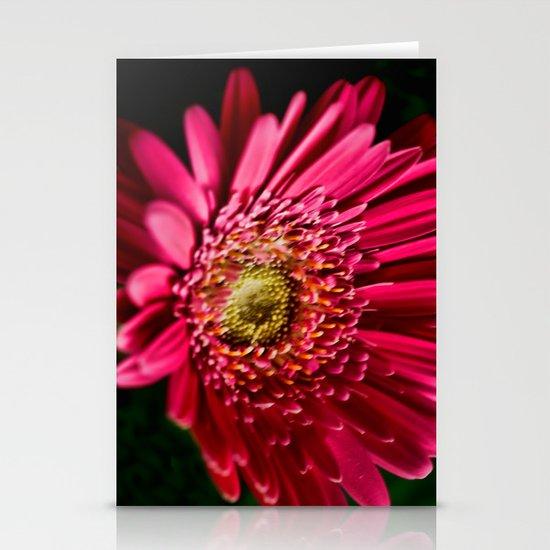 Pink Gerbera 5 Stationery Card