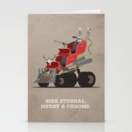 Mad Santa.  Stationery Cards