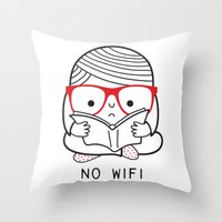 No wifi Throw Pillow