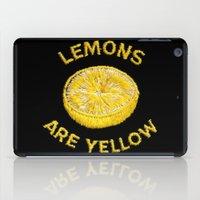 Lemons Are Yellow iPad Case