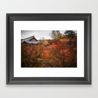 Kyoto in the Fall 2014 II Framed Art Print
