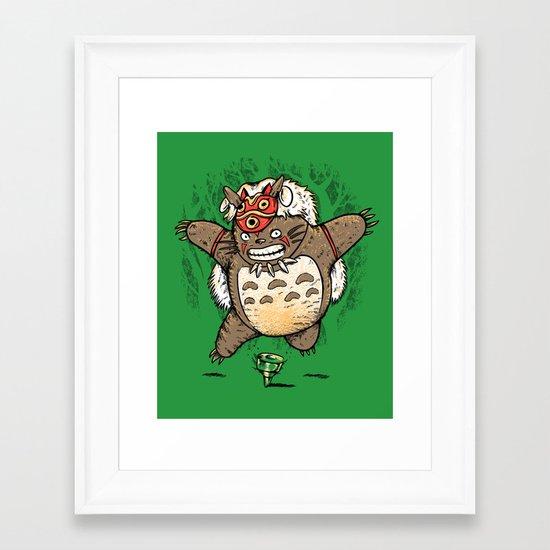 Totoroke Framed Art Print