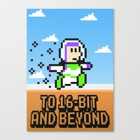 To 16Bit And Beyond Canvas Print