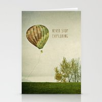 Never Stop Exploring ( A… Stationery Cards