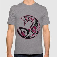 Haida Red Mens Fitted Tee Athletic Grey SMALL