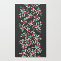 Minty Pinky Branches Canvas Print