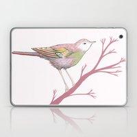 Peach Plum Pear Bird Laptop & iPad Skin