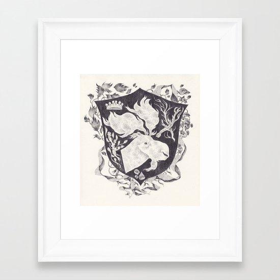 blason Framed Art Print