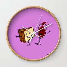 Manchego & Red Wine Wall Clock
