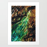 Emerald Vein  Art Print