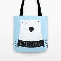Winter Rocks Tote Bag