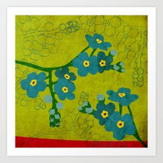 Flowers: Forget me not Art Print