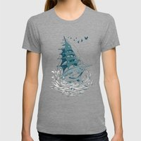 SAILOR Womens Fitted Tee Tri-Grey SMALL
