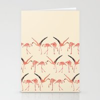 Vanilla Flamingos Stationery Cards