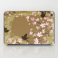 Cute Birds And Cherry Bl… iPad Case