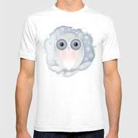 Snowy Owl Mens Fitted Tee White SMALL