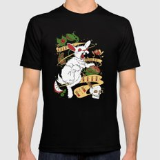 Feed My Rabbit Mens Fitted Tee SMALL Black