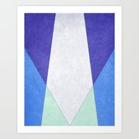 Abstract Purple Blue & Green Art Print