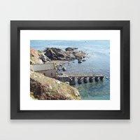 Lifeboat Station, Cornwall Framed Art Print