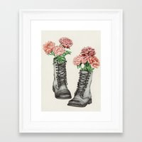 Shoe Bouquet III Framed Art Print