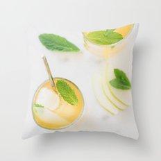 Summer in a glass Throw Pillow