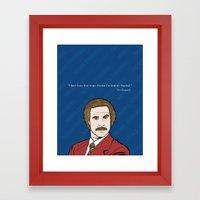 Ron Burgundy Anchorman  Framed Art Print