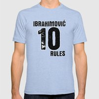 Ibrahimovic 10 Rules Mens Fitted Tee Tri-Blue SMALL